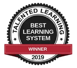 2019 Best learning system winner badge by Talented Learning