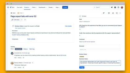 AA FY22Q1 Surveys for JSM TOF blog new features screencaps 3