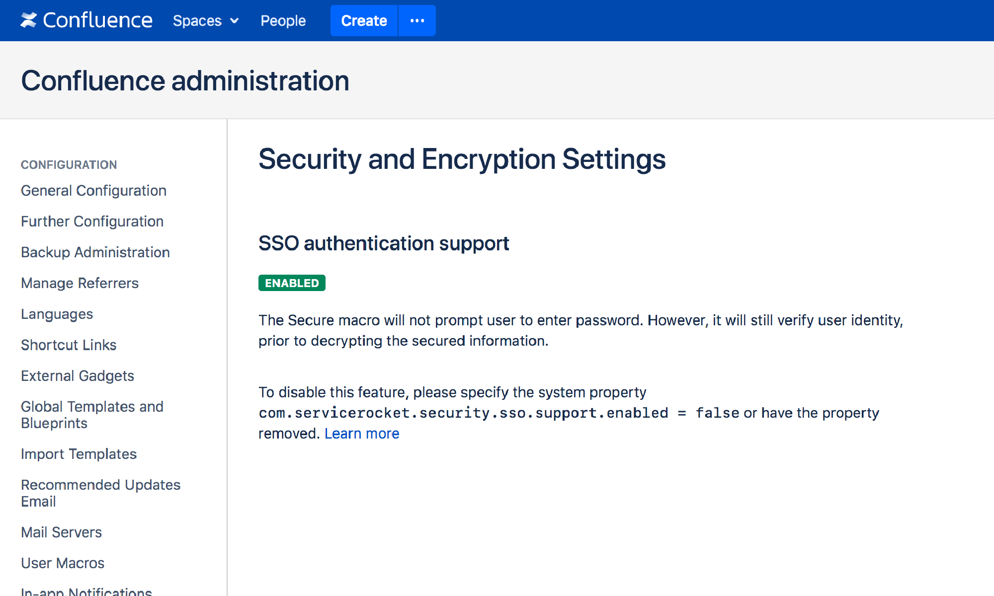 SSO Security and Encryption for Confluence