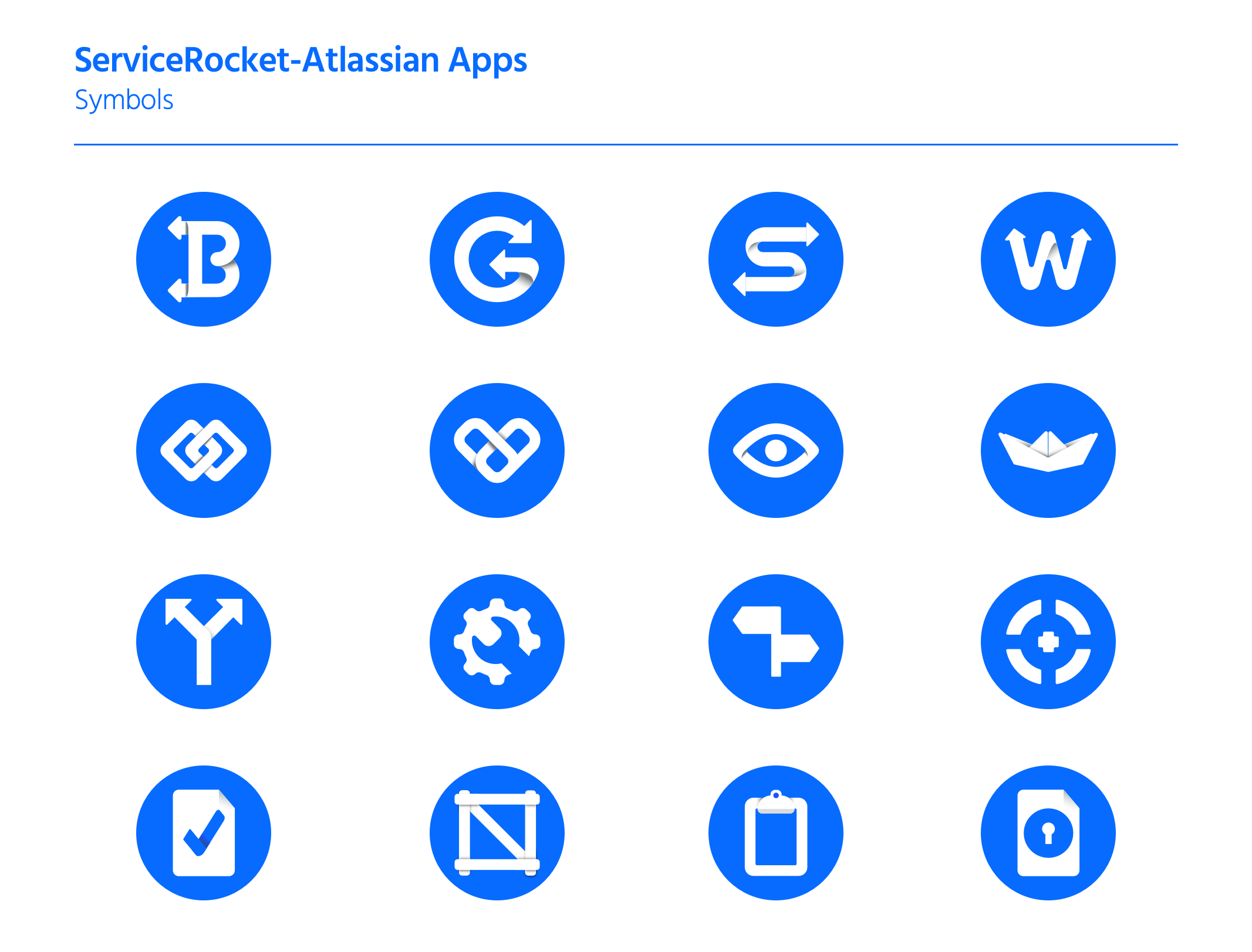 ServiceRocket Apps symbols