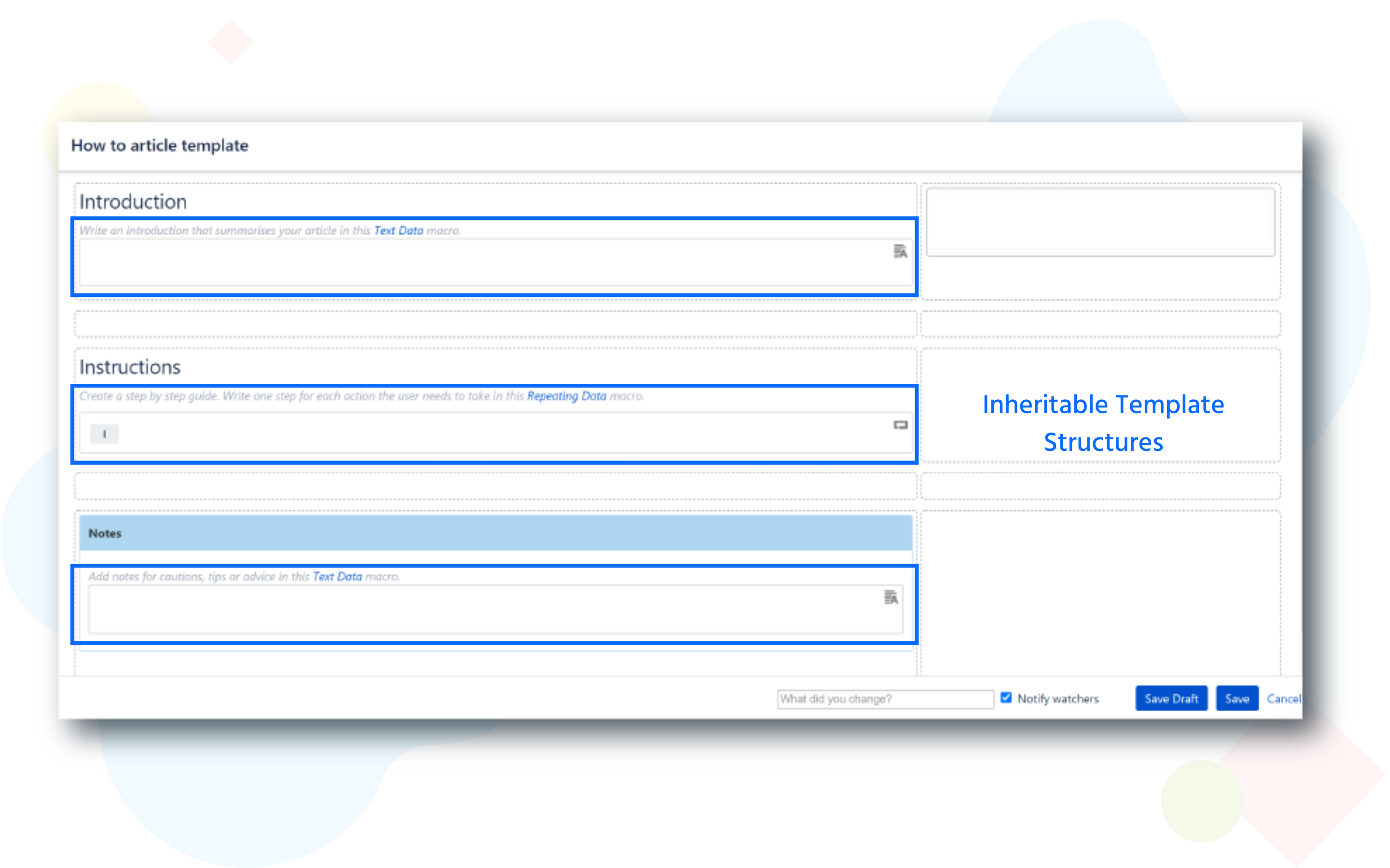 easily create templates in confluence scaffolding